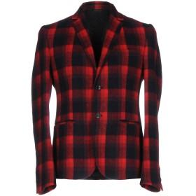 《期間限定 セール開催中》DANIELE ALESSANDRINI HOMME メンズ テーラードジャケット レッド 50 アクリル 45% / ポリエステル 30% / ウール 20% / 指定外繊維 5%