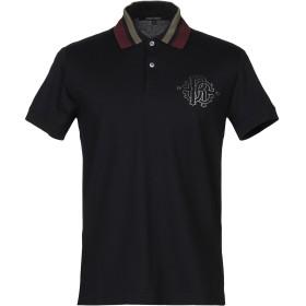 《期間限定 セール開催中》ROBERTO CAVALLI メンズ ポロシャツ ダークブルー M コットン 100%