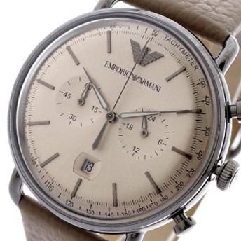 レビューで次回2000円オフ 直送 エンポリオアルマーニ EMPORIO ARMANI 腕時計 メンズ AR11107 AVIATOR クォーツ グレージュ