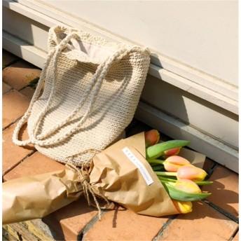 『送料無料』 【ハンドメイド】 ハンドバッグ 大容量 新型バッグ 韓国風 シンプル ワイルド バケツ織りバッグ ビーチバッグ コットンラインハンドバッグ ストローバッグ