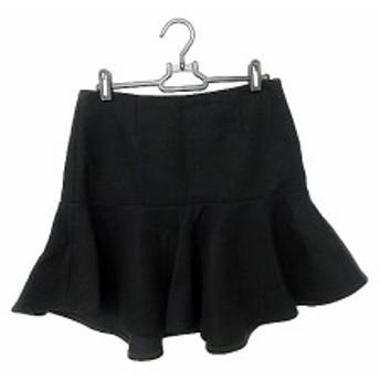 【中古】ミューズ ドゥーズィエムクラス MUSE de Deuxieme Classe スカート ミニ フレア 36 黒 ブラック /AAO41 レディース