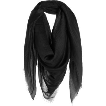 《期間限定セール開催中!》VERSACE メンズ スカーフ ブラック カシミヤ 80% / シルク 20%