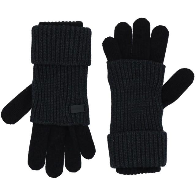 《送料無料》EMPORIO ARMANI メンズ 手袋 スチールグレー M ウール 50% / アクリル 50%