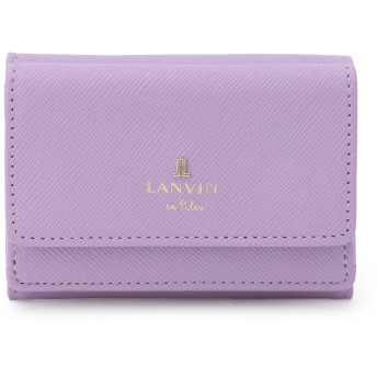LANVIN en Bleu(BAG) LANVIN en Bleu ランバンオンブルー リュクサンブール 三つ折り財布 財布,ラベンダー