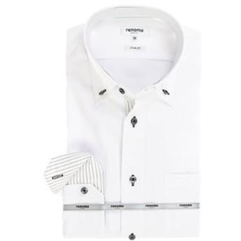 【TAKA-Q:トップス】アイスカプセル形態安定スリムフィット 3枚衿ボタンダウン7分袖ビジネスドレスシャツ/ワイシャツ