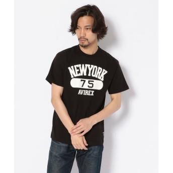 【40%OFF】 アヴィレックス プリントTシャツ ニューヨーク75/T SHIRT NEW YORK 75 メンズ BLACK M 【AVIREX】 【セール開催中】