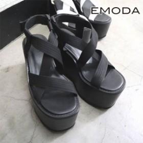 307dcb894d2f エモダ EMODA 通販 7月上旬予約 クロステープバルキーサンダル レディース シューズ 靴 サンダル バルキー