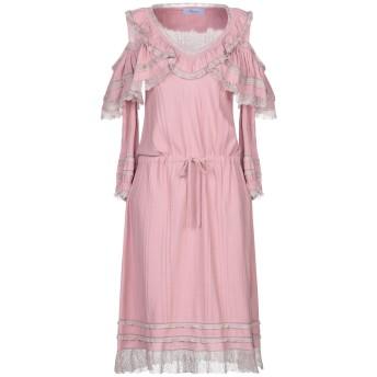 《セール開催中》BLUMARINE レディース 7分丈ワンピース・ドレス ピンク 42 コットン 100% / レーヨン / ポリエステル