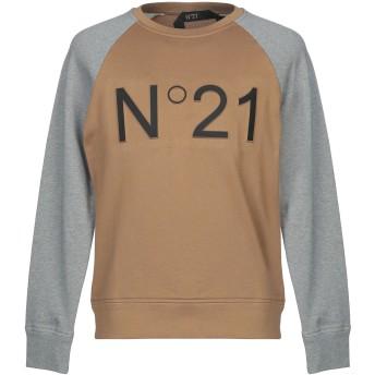 《期間限定セール開催中!》N°21 メンズ スウェットシャツ キャメル L コットン 100%