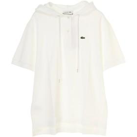 LACOSTE LACOSTE/ラコステ ポロシャツ レディース 半袖 リラックスフィットポロパーカ ウォッシャブル パーカー,ホワイト