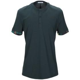《期間限定セール開催中!》VERSACE COLLECTION メンズ T シャツ ディープジェード L コットン 100%