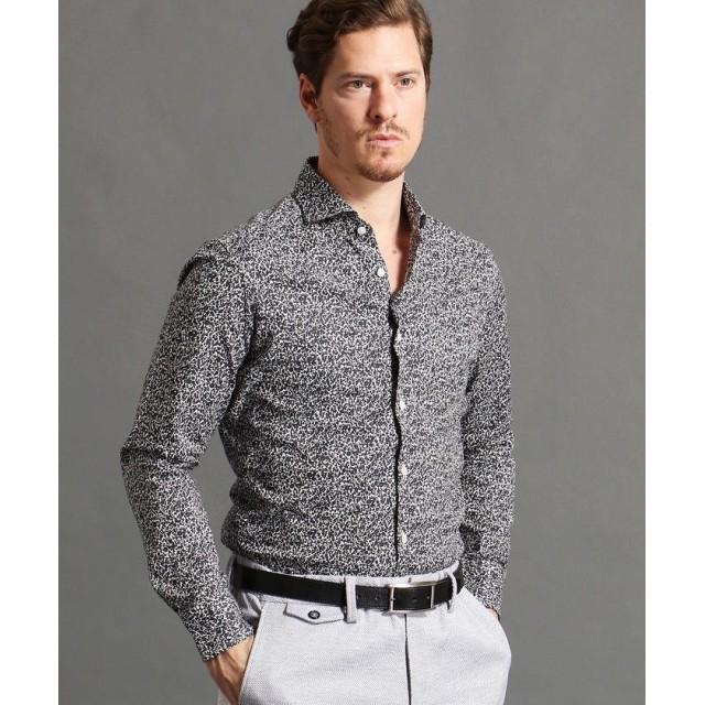 ムッシュニコル フラワープリントシャツ メンズ 09ホワイト 50(LL) 【MONSIEUR NICOLE】