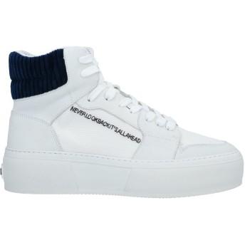 《期間限定 セール開催中》MSGM メンズ スニーカー&テニスシューズ(ハイカット) ホワイト 41 革 / 紡績繊維