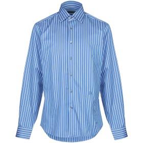 《期間限定セール開催中!》ROBERTO CAVALLI メンズ シャツ ブルー 39 コットン 100%
