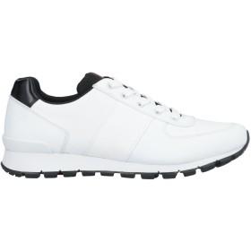 《期間限定セール開催中!》PRADA LINEA ROSSA メンズ スニーカー&テニスシューズ(ローカット) ホワイト 6 革 / 紡績繊維