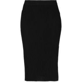 《送料無料》VICTORIA, VICTORIA BECKHAM レディース ひざ丈スカート ブラック 8 ウール 100%