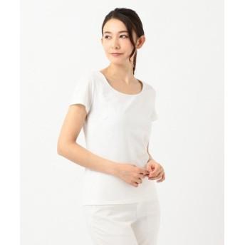 ICB Premium Jersey Uネック半袖カットソー レディース ホワイト系 XS 【ICB】