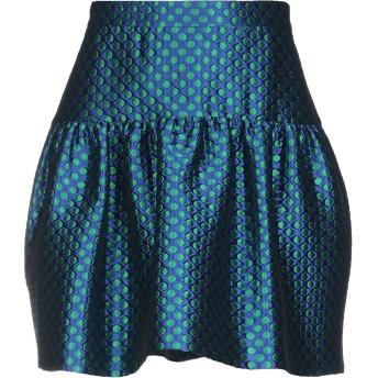 《セール開催中》BOUTIQUE MOSCHINO レディース ミニスカート ブルー 42 ポリエステル 81% / ナイロン 12% / レーヨン 7%