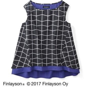 Finlayson フィンレイソン 色の重なりを楽しむノースリーブトップス〈ティーマ〉 フェリシモ FELISSIMO【送料無料】