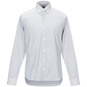 《期間限定セール開催中!》DONDUP メンズ シャツ グレー M コットン 100%