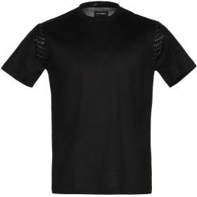 《期間限定 セール開催中》LES HOMMES メンズ T シャツ ブラック S コットン 100%