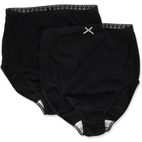 Rosemadame やさしい素材ではじめてのママも安心  定番ロングセラー 綿100% 帝王切開 Aブラックドット×ブラック L