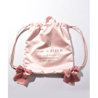 メゾンドフルール サテンリボンバックパック レディース ピンク FREE 【Maison de FLEUR】