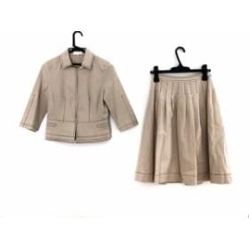 トゥービーシック TO BE CHIC スカートスーツ レディース ベージュ【中古】