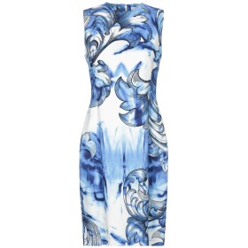 《セール開催中》VERSACE COLLECTION レディース ミニワンピース&ドレス ブルー 40 レーヨン 96% / ポリウレタン 4%