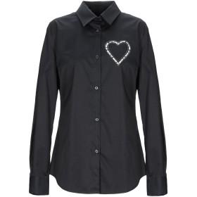 《セール開催中》LOVE MOSCHINO レディース シャツ ブラック 38 コットン 97% / ポリウレタン 3%