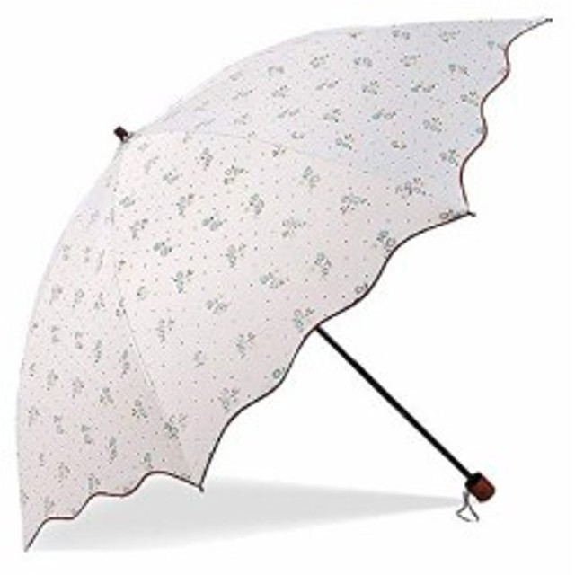 TENGEE 折りたたみ傘 レディース 日傘 uvカット 100 遮光 折り畳み 軽量 晴雨兼用 遮熱 8本骨 収納ケース付き 可愛い 高級上品(ホワ