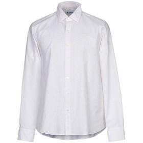 《期間限定セール開催中!》DONDUP メンズ シャツ ホワイト L コットン 100%