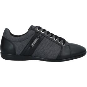 《セール開催中》VERSACE COLLECTION メンズ スニーカー&テニスシューズ(ローカット) グレー 40 革 / 紡績繊維