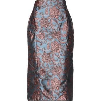 《セール開催中》JOHANNA ORTIZ レディース 7分丈スカート ブルーグレー 8 ポリエステル 81% / シルク 19%
