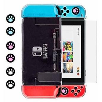 スイッチクリアケース,BRHE Nintendo switch 用カバー ドック対応 PCケース ニンテンドースイッチ ハードケース 任天堂スイッチ本