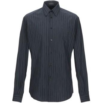 《セール開催中》VERSACE メンズ シャツ ブラック 38 コットン 100%