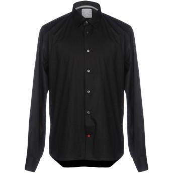 《期間限定セール開催中!》PEUTEREY メンズ シャツ ブラック M コットン 96% / ポリウレタン 4%