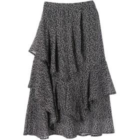 【6,000円(税込)以上のお買物で全国送料無料。】・K 単色花柄変形ティアードスカート