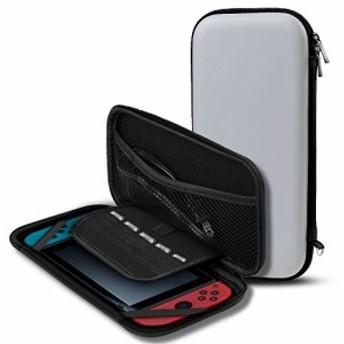 Nintendo Switch専用収納バッグ TAKYU 任天堂スイッチ用のキャリングケース 防塵 防汚 耐衝撃 EVAポーチ 持ち運びカバー グレー