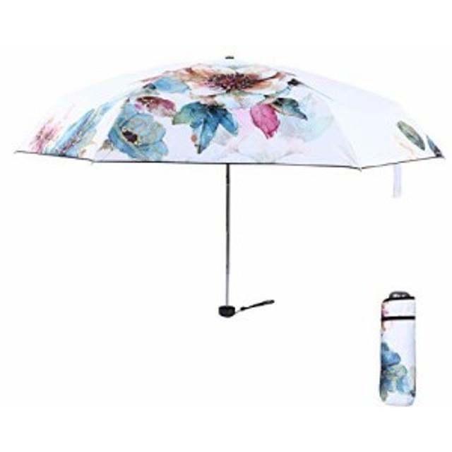 FJMOD 日傘 レディース 折り畳み傘 超軽量(200g) 折りたたみ傘 晴雨兼用UVカット99% UPF50+ 可愛い ミニ(17.5cm) 完全