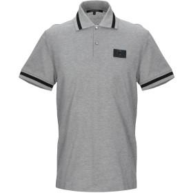 《期間限定 セール開催中》ROBERTO CAVALLI メンズ ポロシャツ グレー S コットン 100%
