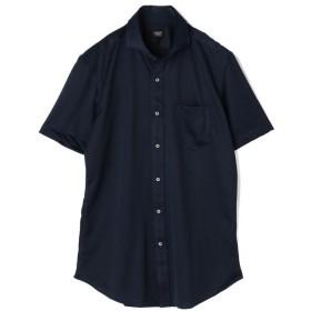 【20%OFF】 メンズビギ 《SALAMAX》ショートスリーブシャツ/ホリゾンタルカラー メンズ ネイビー L 【Men's Bigi】 【セール開催中】