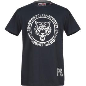 《期間限定 セール開催中》PLEIN SPORT メンズ T シャツ ダークブルー M コットン 95% / ポリウレタン 5%
