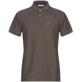 《セール開催中》VERSACE COLLECTION メンズ ポロシャツ ミリタリーグリーン S コットン 100%