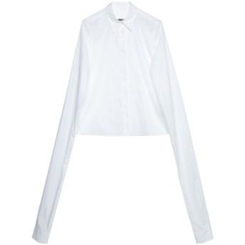 《セール開催中》MM6 MAISON MARGIELA レディース シャツ ホワイト 40 コットン 100%
