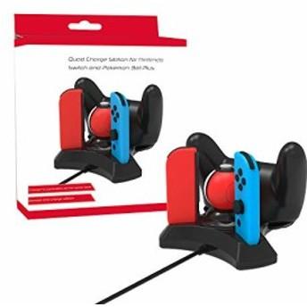 Switch Joy-Con Pro 充電器充電スタンドニンテンドー スイッチ プローコントローラーモンスターボールPlus充電4 in 1充電ドック