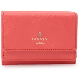 LANVIN en Bleu(BAG) LANVIN en Bleu ランバンオンブルー リュクサンブール 三つ折り財布 財布,コーラル