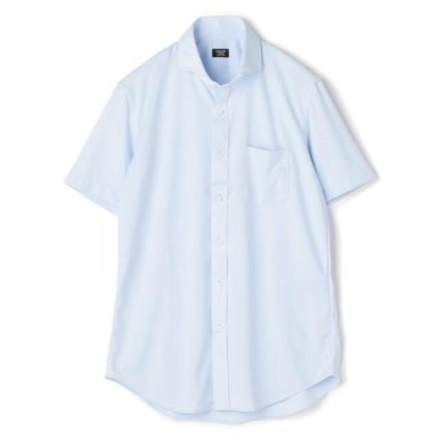 (Men's Bigi/メンズビギ)《SALAMAX》ショートスリーブシャツ/ホリゾンタルカラー/メンズ サックスブルー 送料無料