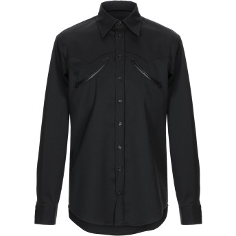 《セール開催中》DSQUARED2 メンズ シャツ ブラック 52 コットン 98% / ポリウレタン 2%