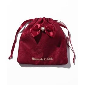 メゾンドフルール ダブルリボンレース巾着 レディース レッド FREE 【Maison de FLEUR】